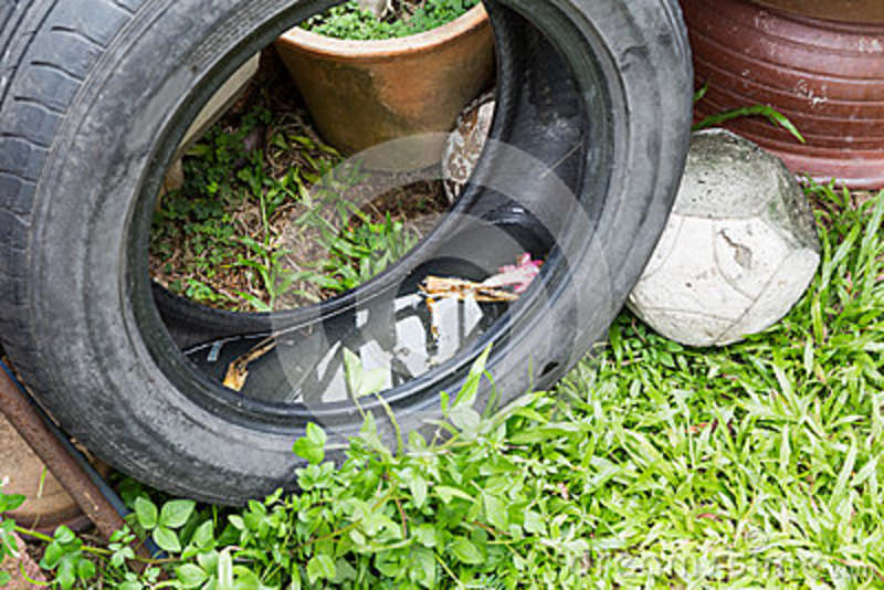 Used Tyres Potentially Store Stagnant Water And Mosquitoes Breed.