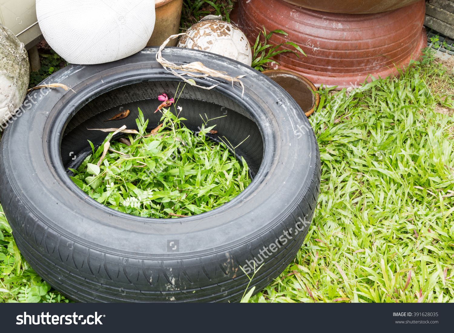 Used Tyres Potentially Store Stagnant Water And Become Mosquitoes.
