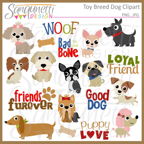 Free dog breeds clipart.