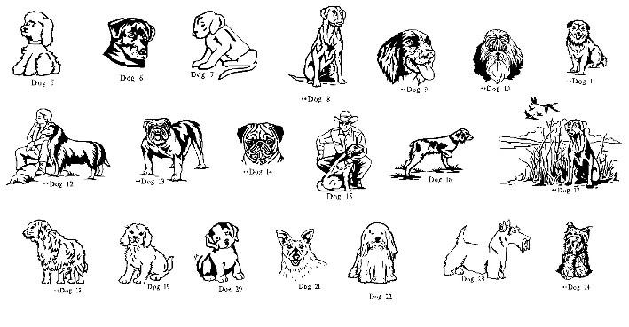 Different Dog Breeds Clip Art.