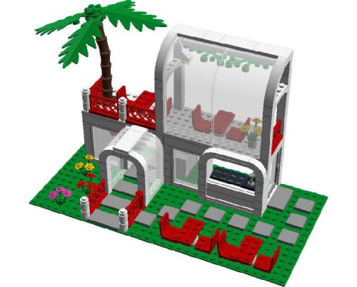 Breezeway Cafe (6367 MOD): A LEGO® creation by City Builder03.