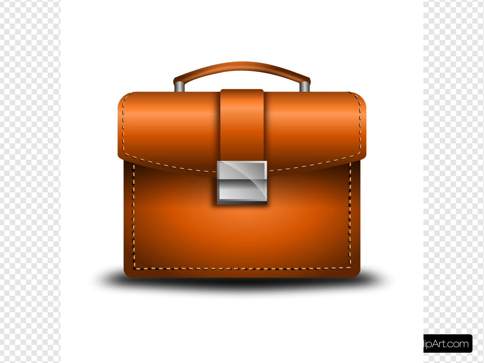 Leather Briefcase Clip art, Icon and SVG.