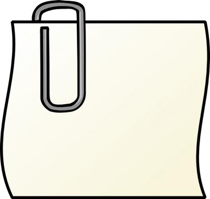 Hinweis mit Büroklammer ClipArt cliparts, kostenlose clipart.