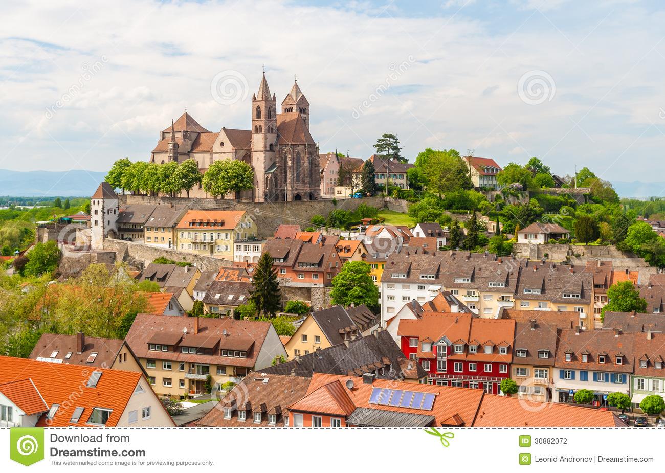 View Of Breisach Town.