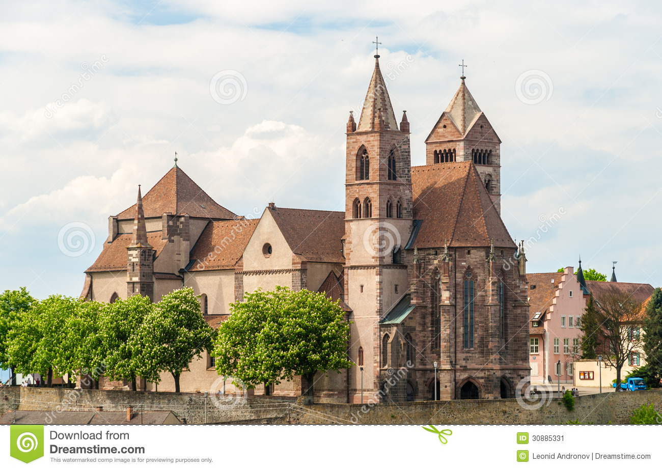 Breisach Cathedral Royalty Free Stock Photos.
