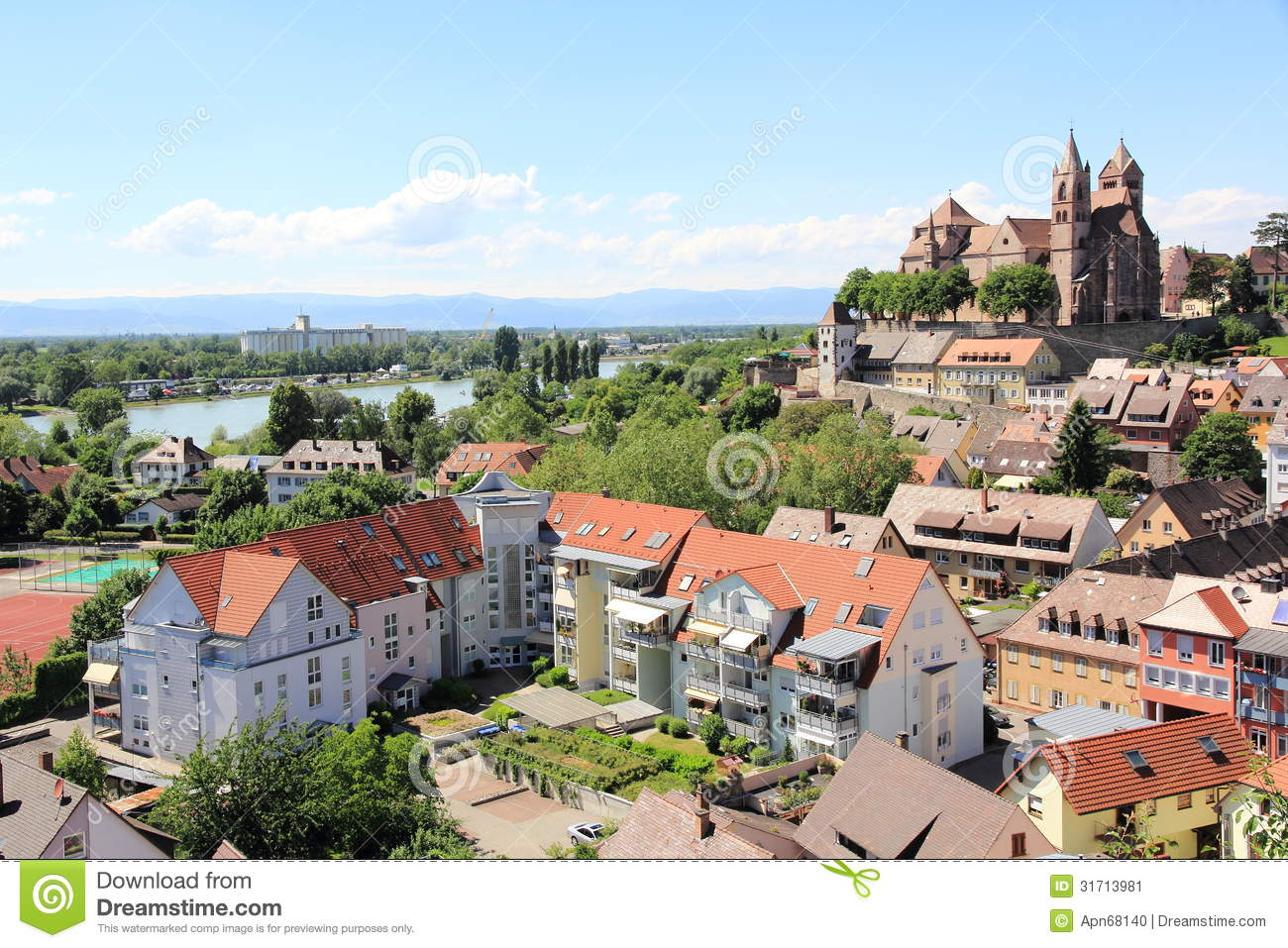 The City Of Breisach In Germany Stock Image.