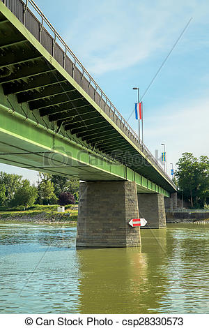 Picture of Bridge over the Rhine at Breisach.