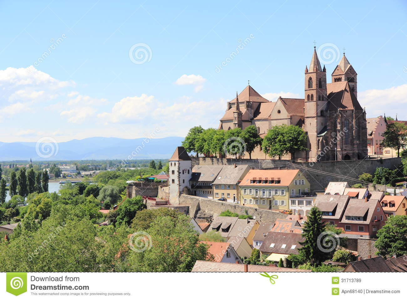 The City Of Breisach In Germany Royalty Free Stock Images.