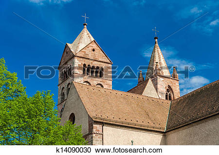 Stock Photography of St. Stephan's Cathedral of Breisach.