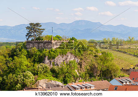 Stock Photography of View of Castle Breisach.