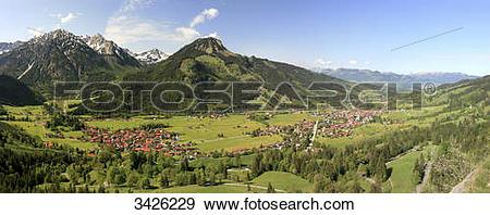 Stock Photograph of Imberger Horn and Breitenberg, Allgaeu Alps.