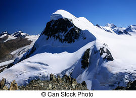 Stock Images of Breithorn and Klein Matterhorn.