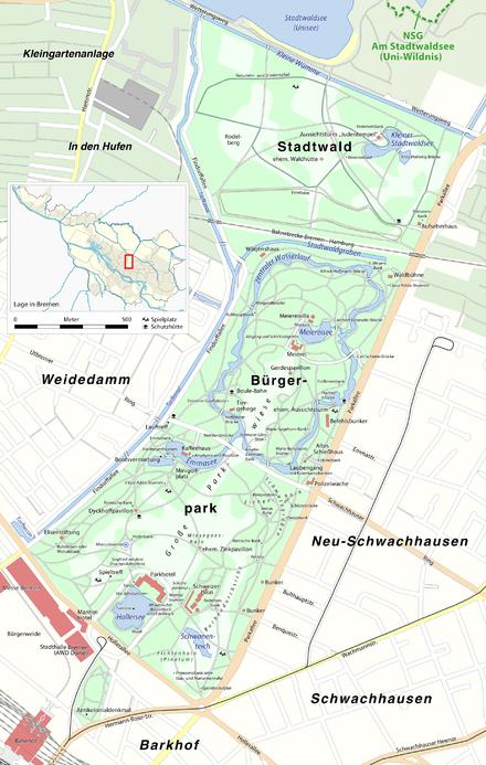 Bürgerpark und Stadtwald.