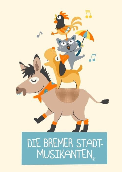 Die Bremer Stadtmusikanten / The town musicians of Bremen _ by.