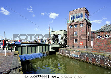 "Stock Photography of ""Bascule bridge between the Alter Hafen and."