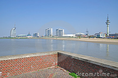Historic Lighthouse At Bremerhaven Royalty Free Stock Photo.