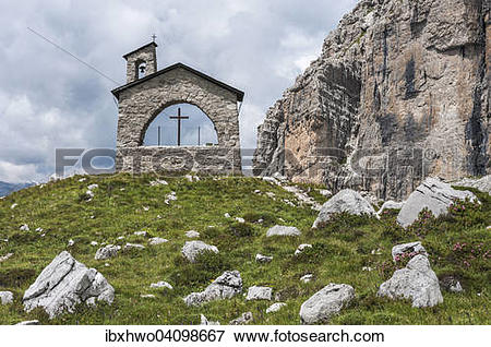 Picture of Mountaineers chapel at Brentei Hut, Adamello.
