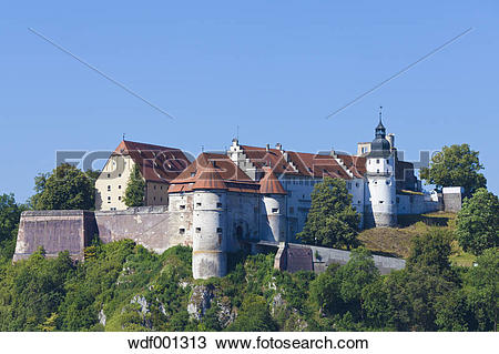 Stock Photo of Germany, Baden Wuerttemberg, View of Hellenstein.