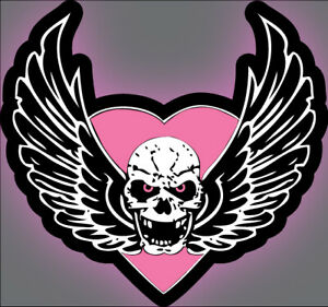 Details about Bret the Hitman Hart Foundation Skull Car Decal, truck,  laptop Sticker WWF WWE.
