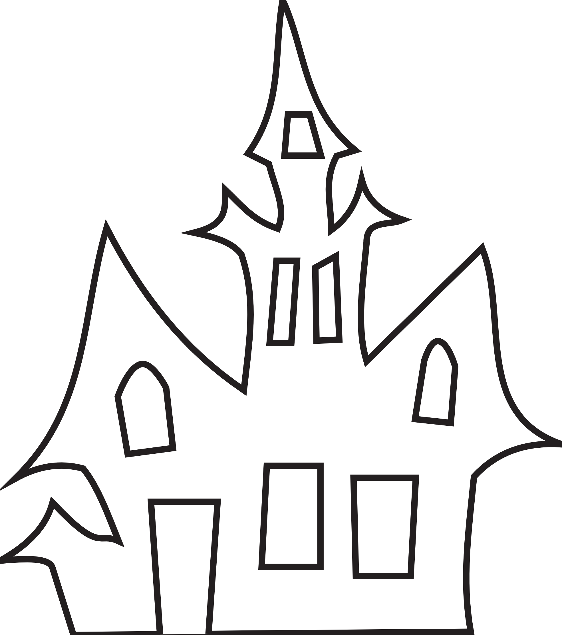 clipartist.net » Clip Art » Haunted House Black White Art Boaz.