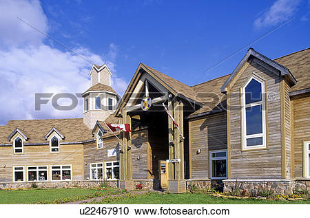 Stock Photography of Front view of Gaelic College at St. Ann's.