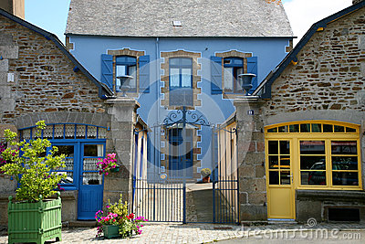 Traditional Breton House Stock Photo.