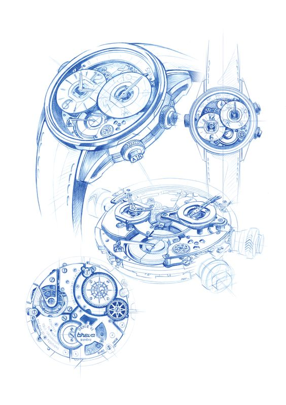 BREVA WATCHES SKETCHES on Behance.