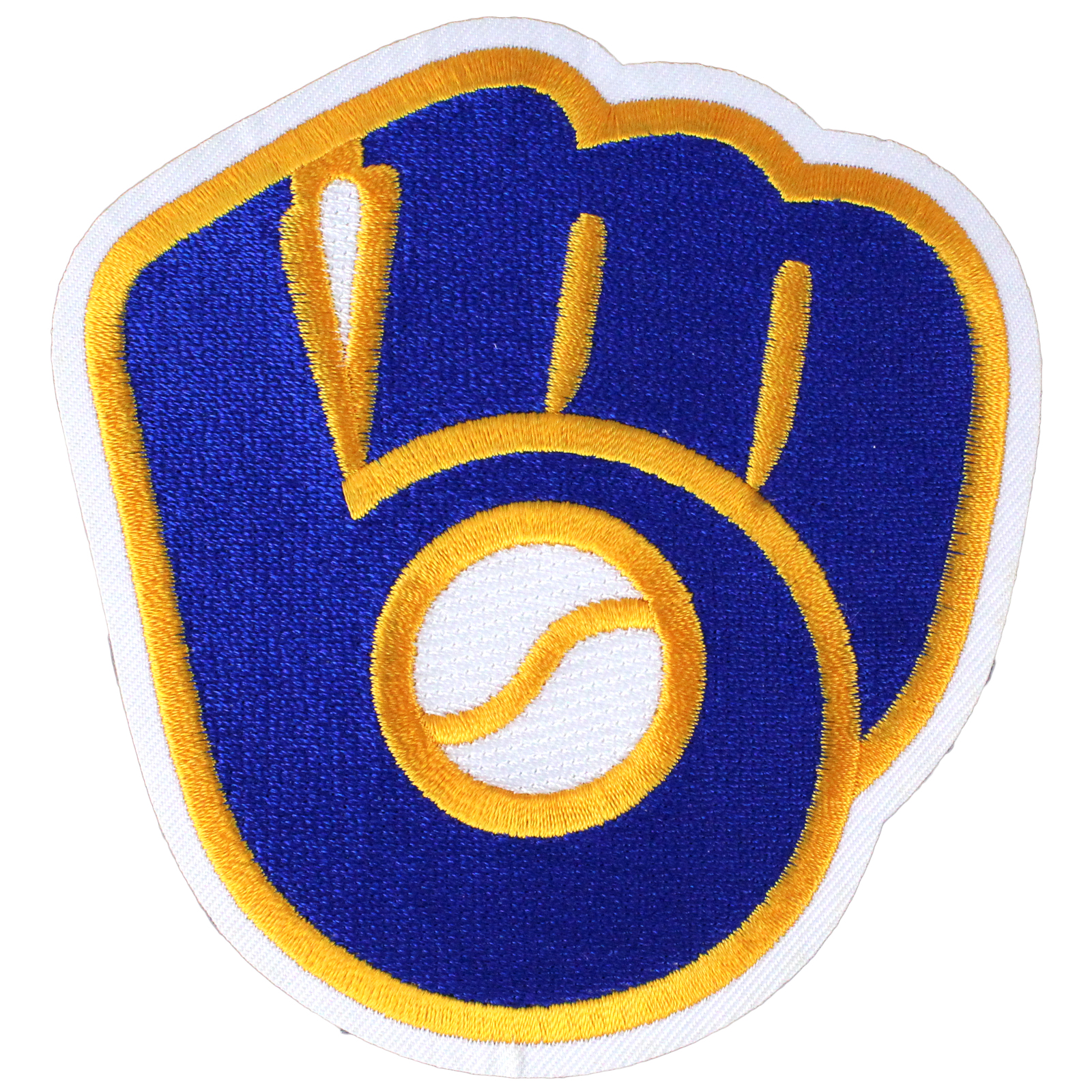 Details about Milwaukee Brewers Team Retro Old Throwback Logo Sleeve Patch  Glove Jersey MLB.
