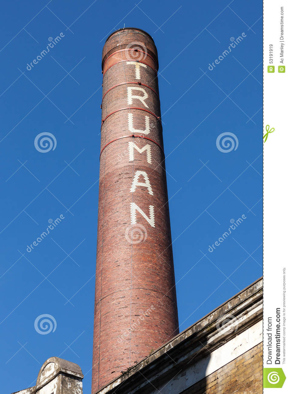 The Truman Chimney Editorial Stock Image.