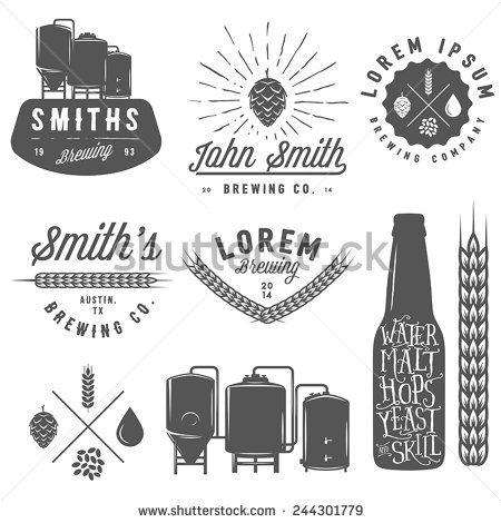 Brewery Clipart & Logos / Beer / Vector / Shutterstock.