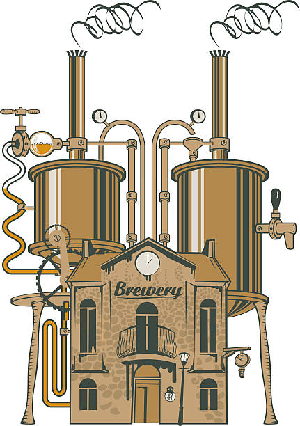 Best Brewery Equipment Illustrations, Royalty.