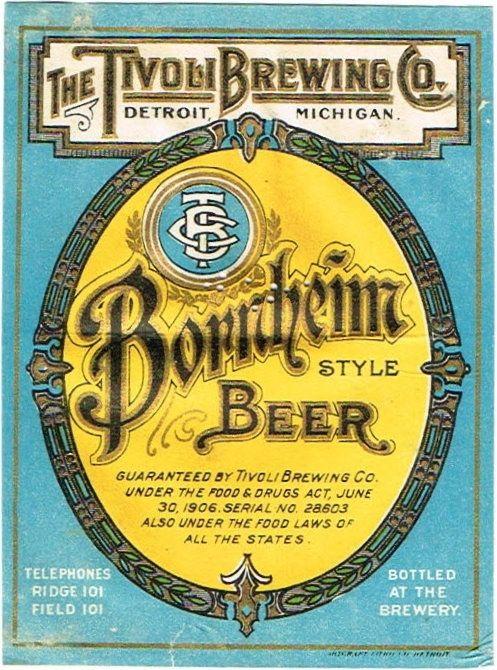 Labels Leader Beer National Brewing Co. (Pre Prohibition) Saginaw.