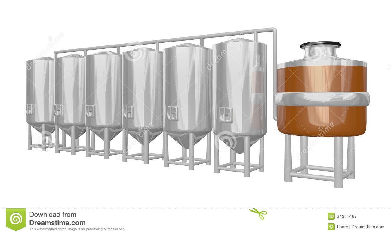 Beer Brewery System Royalty Free Stock Photography.