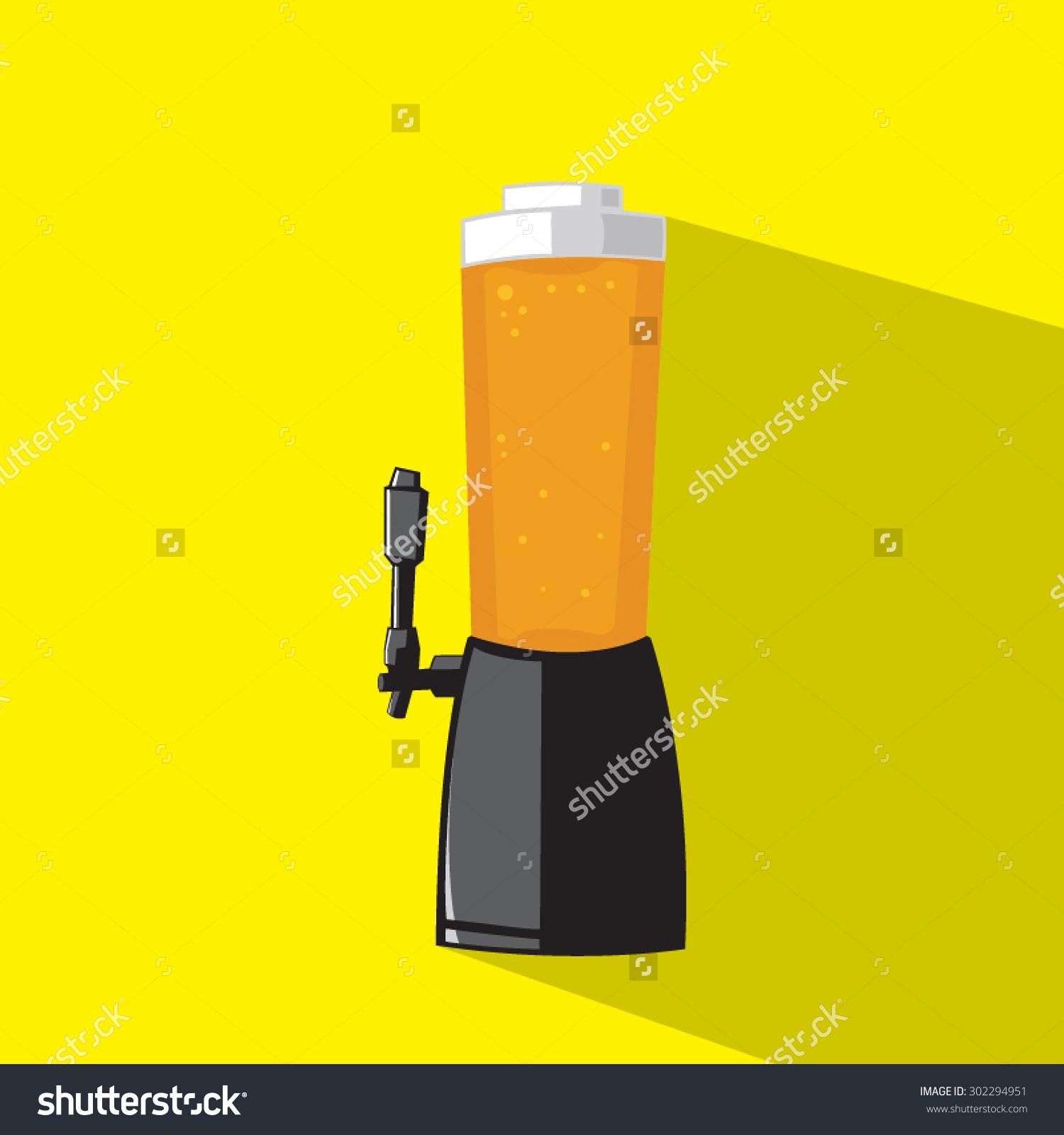 Draft Beer Tower Tap Stock Vector 302294951.