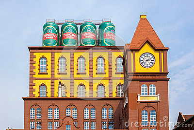 Main Building Of The Qingdao Brewery Editorial Photo.