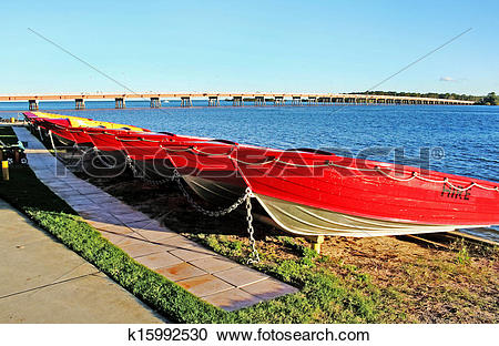 Stock Photography of Bribie Island Boats k15992530.