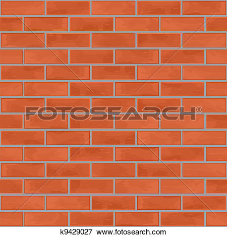 Clip Art of Grey Brick Wall Background. k12844212.