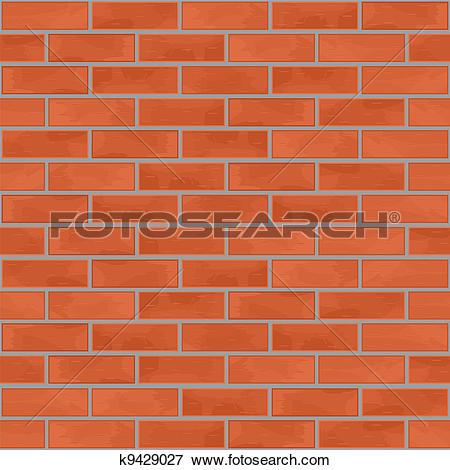 Clip Art of Grey Brick Wall Background. k12844212.