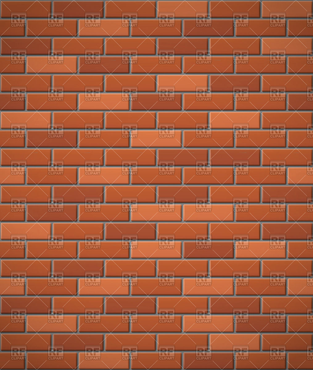 Wall of red brick seamless background Vector Image #66377.