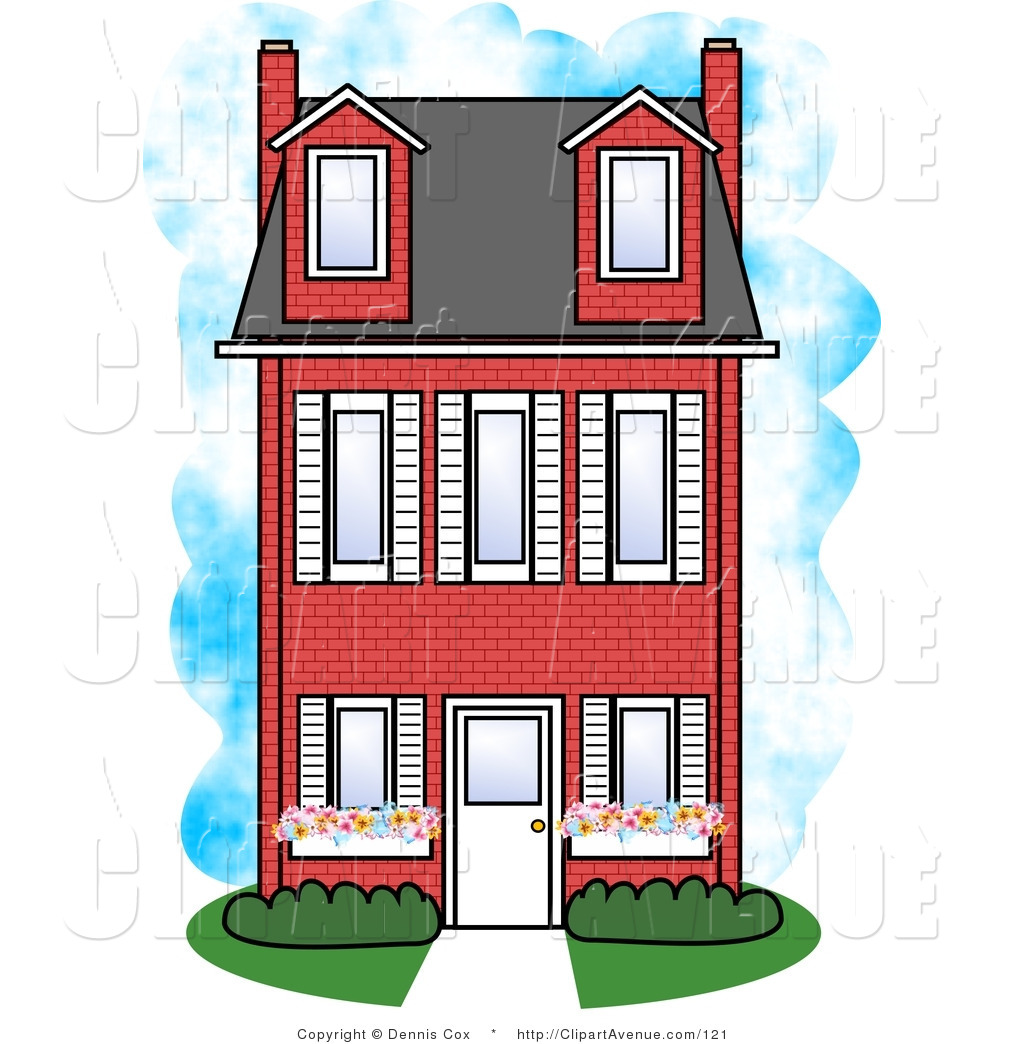 Brick Apartment Building Illustration. Single Brick Building Clipart  building clipart Clipground