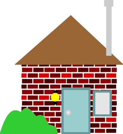 Brick Building Clip Art.
