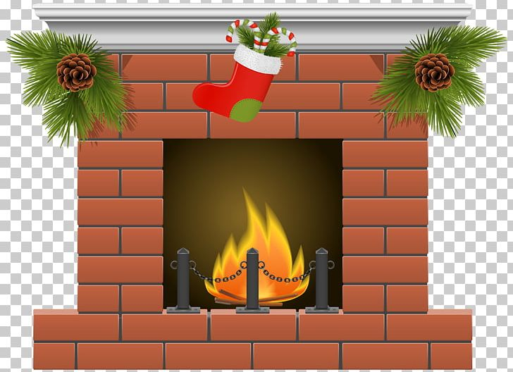Fireplace Christmas Stockings PNG, Clipart, Brick, Chimney.
