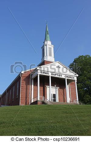 Stock Photographs of Little brick church on the hill csp10236691.