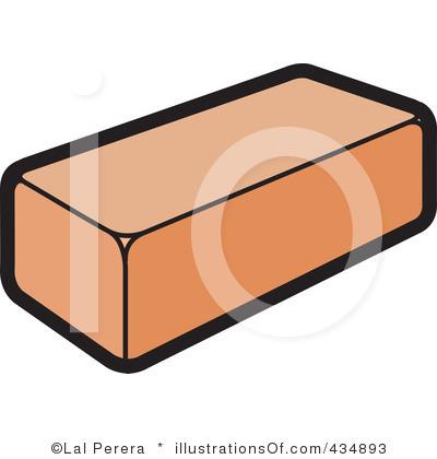 Single Brick Building Clipart.