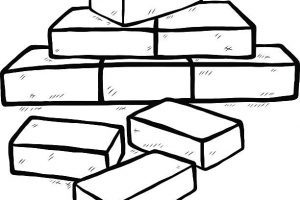 Bricks clipart black and white 6 » Clipart Portal.