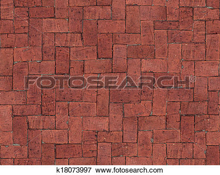 Picture of Seamlessly tiling red brick floor texture. k18073997.