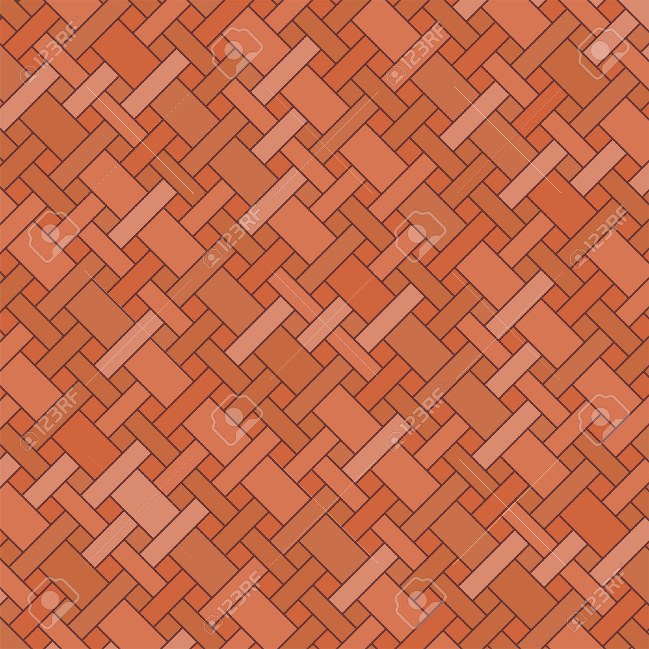 Brick Floor With Different Earth Color Tones Royalty Free Cliparts.