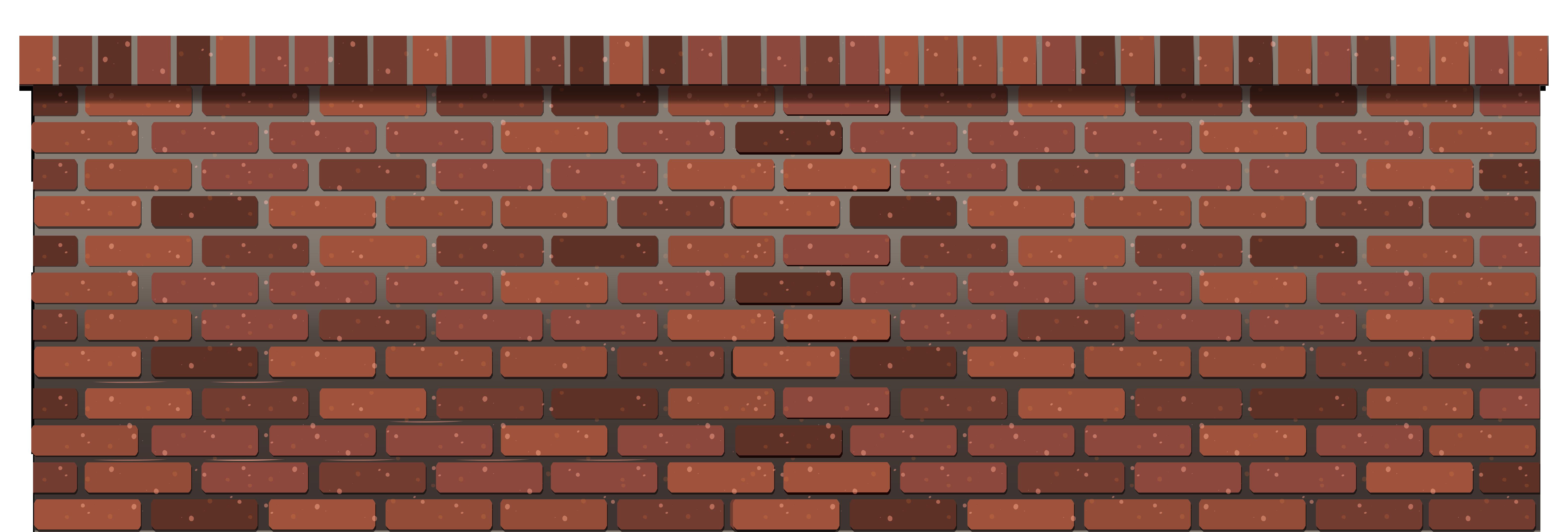 Transparent Brick Fence PNG Clipart.