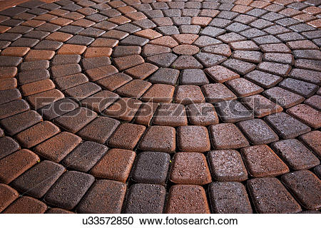 Stock Photography of Detail shot of a brick ground; Laguna Niguel.