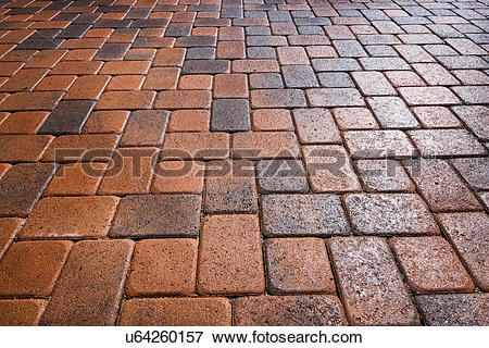Picture of Detail shot of a brick ground; Laguna Niguel.